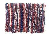 Mardi Gras Beads 33 inch 7mm, 10 Dozen, 120 Pieces (Red White Blue)