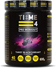 Time 4 Pre-Workout – Ultra High Strength Pre Workout Powder – Plant Based Vegan Pre Workout Supplement for Men Women aE Best Pre Workout Vegan Blend Tangy Blackcurrant 600g Tub Estimated Price : £ 24,99