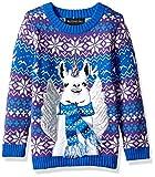 Blizzard Bay Boys Ugly Christmas Sweater Llama, Blue Combo, XL 18/20