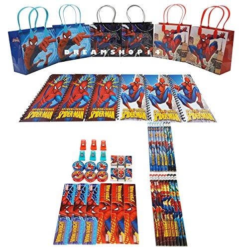 Mirage Spider-Man Party Favor Stationery Set (54 Pcs)