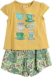 Conjunto Uh La La Amarelo - Menina Toddler