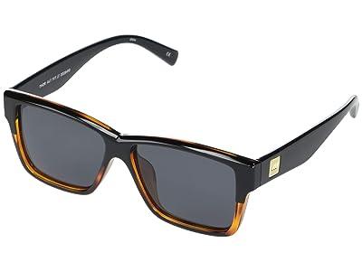 Le Specs Thor Alt Fit (Black/Tortoise Smoke Mono Polarized) Fashion Sunglasses