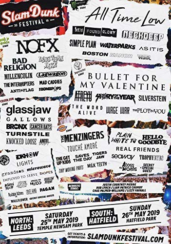 Generic Slamdunk Festival Mai 2019 Foto Poster All Time Low NOFX Bullet for My Valentine 013 (A5-a4-a3) - A4