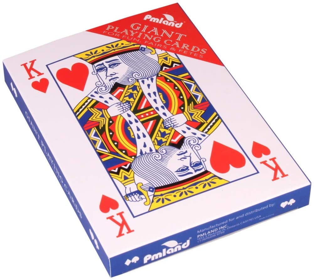 PMLAND Giant 5 x 7 Inch Large Poker Index Playing Cards