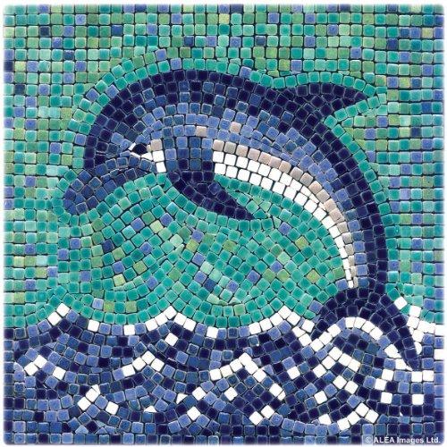 ALEA Mosaic Mosaik Bausatz, 20x20cm, Delphin