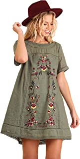 Women's Bohemian Embroidered Short Sleeve Dress or Tunic