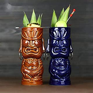 Tiki bar Bicchieri da cocktail in ceramica Cocktail 400 ml Come mostrato Cocktail hawaiani Tiki Tropical Party Pack