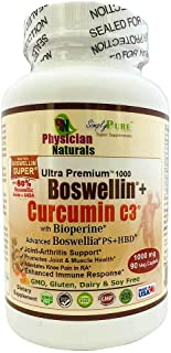 Advanced Boswellin Super and PS + Curcumin C3 1000 mg with Bioperine 90 caplets Powerful Anti-Inflammation Arthritis Joint...