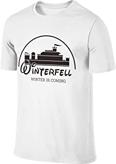 BTVE Game of Thrones Winterfell Winter is Coming Cool Running White T Shirts