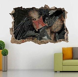NQH 3D Adesivo Da Parete Decalcomanie Da Muro Alien Vs Predator 3D Smashed Wall Stickers Decal Home Decor Art Mural