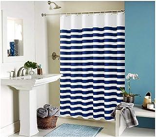 GWFVA Rideaux de Douche, d'impression de Rayures Bleues et Blanches Imperméable à l'eau épaississement de la moisissure Ri...