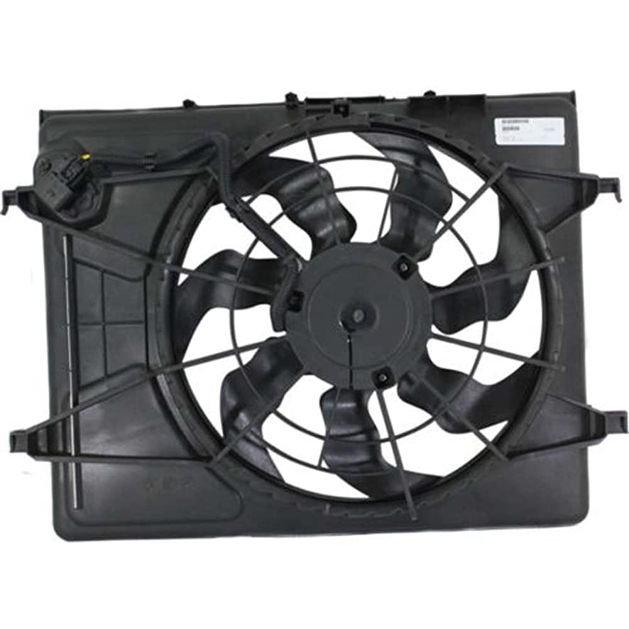 OE Replacement Hyundai Elantra Radiator Cooling Fan Assembly (Partslink Number HY3115120)