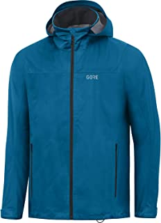GORE WEAR Men's Hooded Jacket, R3, GORE-TEX ACTIVE, S, Orbit Blue