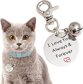 OFPUPPY Cat ID Tags - Dog Memorial Gifts - Pet Birthday Gifts with Bell Dog Stainless Steel Pendant with Gift Bag Pet Label Present Style for Dogs & Cats Collar