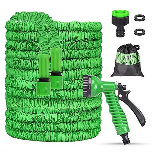 Manguera de Jardín Flexible Manguera Elástica para Jardín con 7 Funciones de riego Manguera de Riego Extensible para Limpieza de Pisos Mascotas Jardinería Automóviles