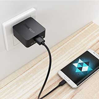 Quick Charge 3.0 18W Wall Charging Kit Works for BLU Grand M3 with (2) 5Ft Cables. Both a USB Type-C & MicroUSB Cable! [Qualcomm Certified / 110-240v / 82 Voltages