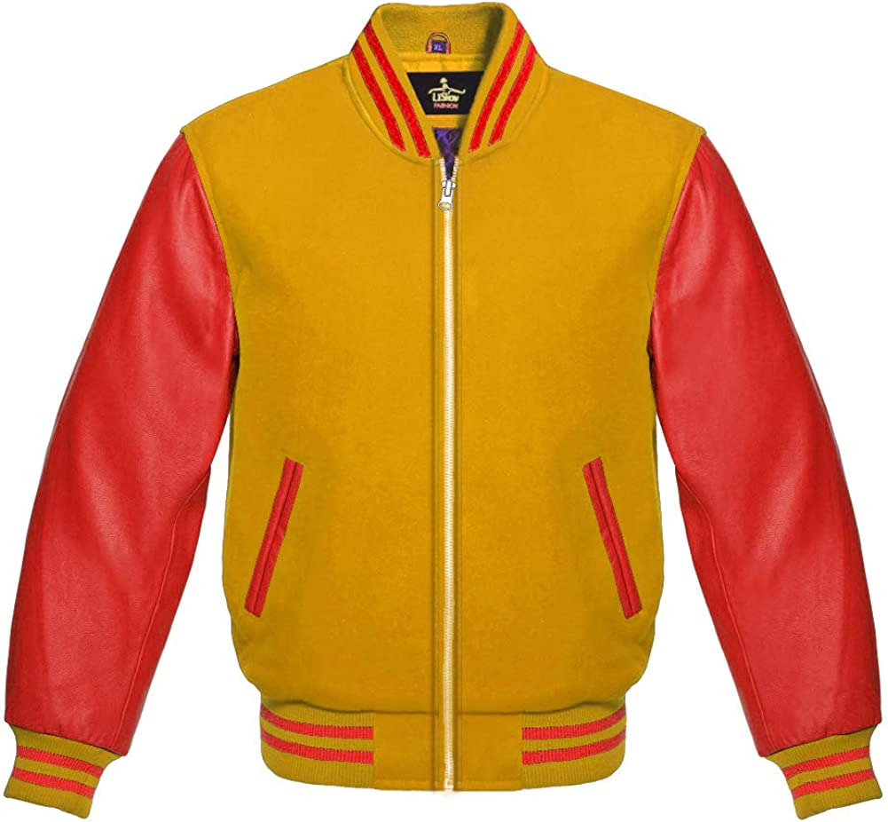 Varsity Baseball Letterman Bomber School Collage an Premium Wool Al sold In stock out.