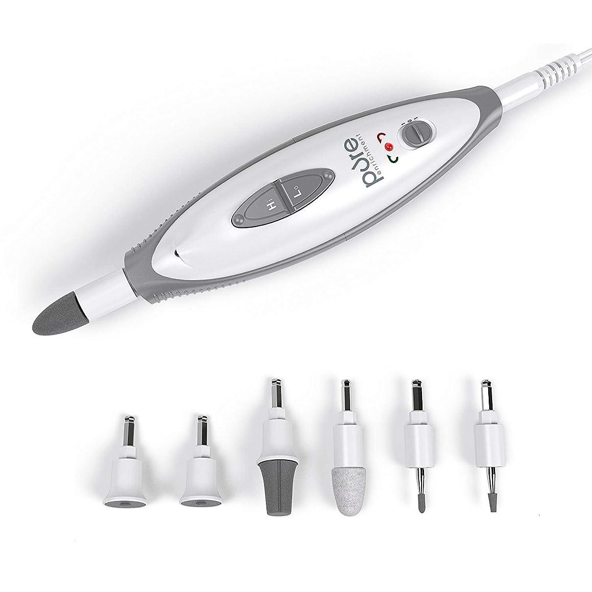 大声で風景放課後[Pure Enrichment] [PureNails 7-piece Professional Manicure & Pedicure System - Powerful Electric Nail Drill for Salon-quality Grooming of Hands & Feet At Home ] (並行輸入品)