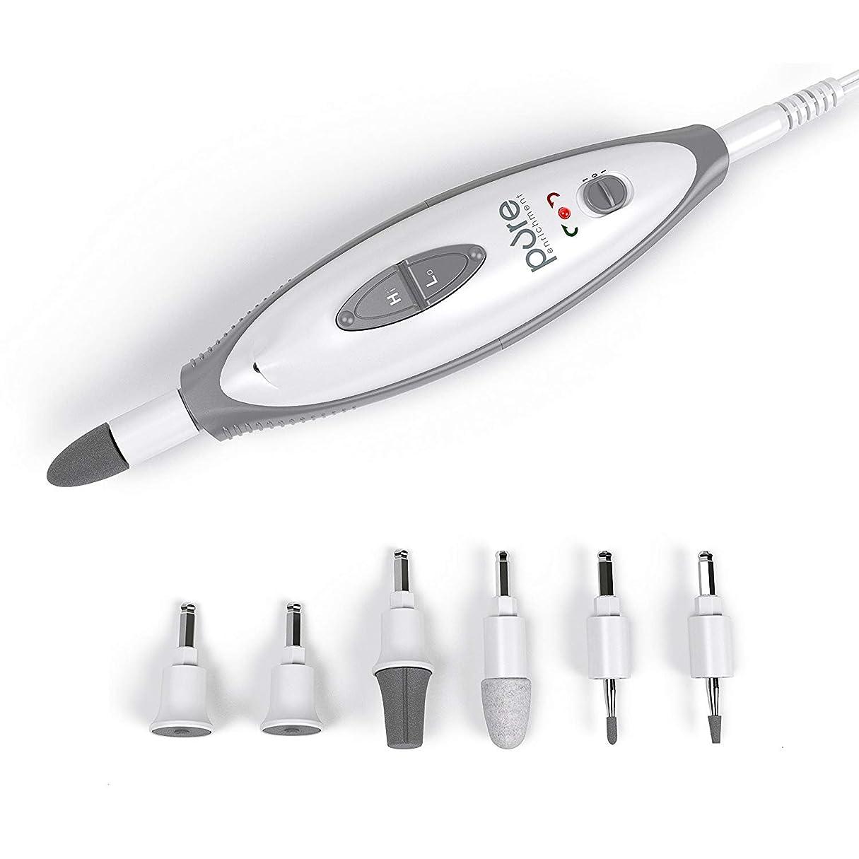 進化クリークはぁ[Pure Enrichment] [PureNails 7-piece Professional Manicure & Pedicure System - Powerful Electric Nail Drill for Salon-quality Grooming of Hands & Feet At Home ] (並行輸入品)