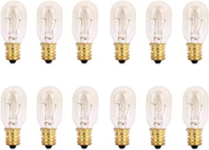 TGS Gems 25 Watt Himalayan Salt Lamp Light Bulbs Incandescent Bulbs E12 Socket-12Pack