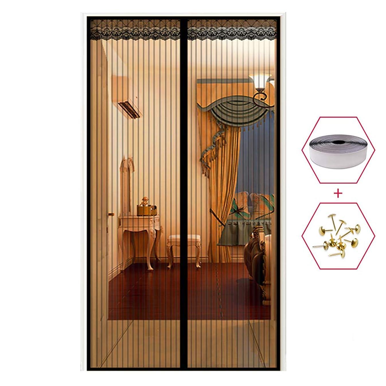 通信網錫天文学磁気フライ昆虫スクリーンドアミュート印刷画面メッシュカーテンフィットドア 90 x 210cm,B,110x220cm