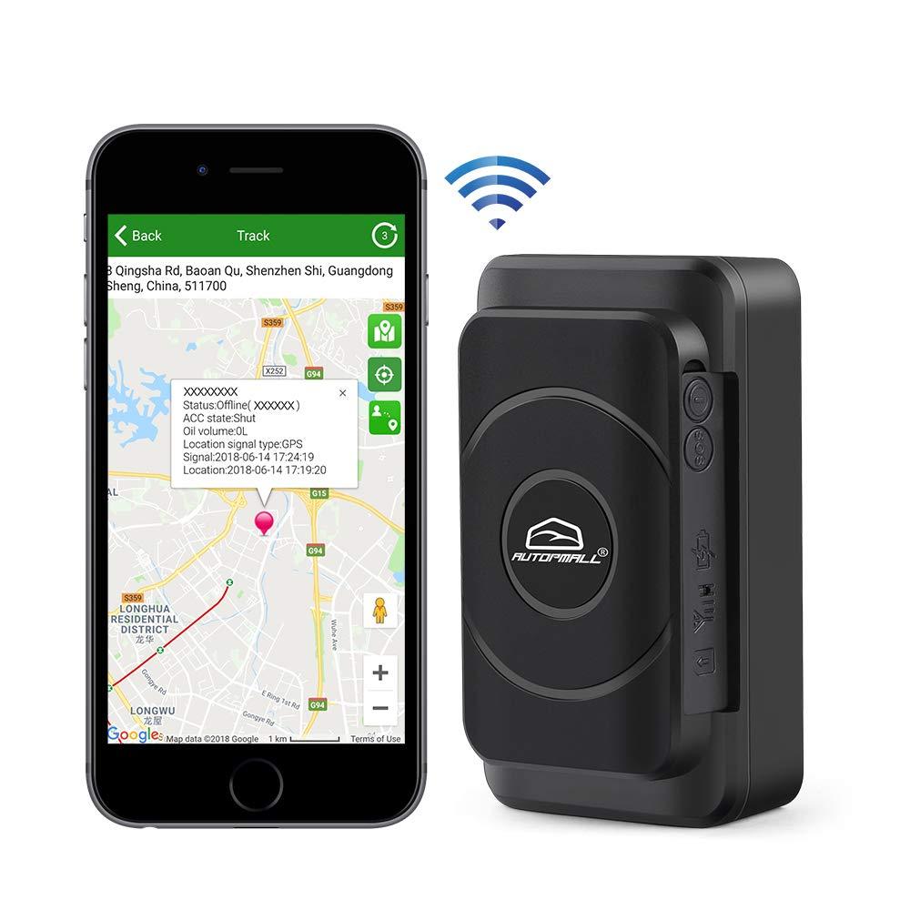 Mini rastreador GPS para coche con rastreador de vehículos, sin coste mensual, larga duración en espera, 2 G, dispositivo de motocicleta, localizador GPS, impermeable, potente imán en tiempo real: Amazon.es: Electrónica