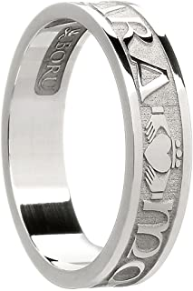 Women's Sterling Silver Mo Anam Cara Wedding Band Ring