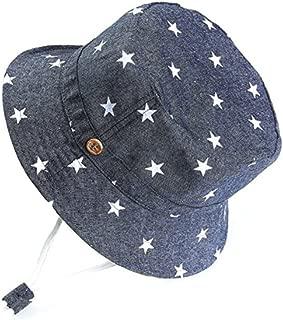 HALT Baby Toddler Kids Bucket Adjustable Sunhats 50+ UPF Sun Protection Star Hat with Chin Strap