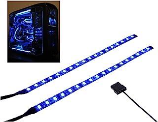 PC LEDストリップは磁石を持って、PCケースに飾ります照明(青色LED、30cm、18leds、Sシリーズ)