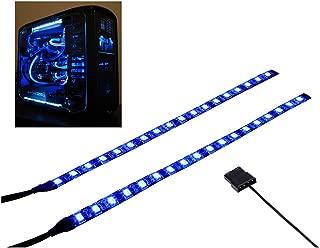 LEDdess PC LED Flexible Light Strip Blue Computer Lighting with Magnetic for Computer Case Lights Kit(30cm,18leds,S Series)