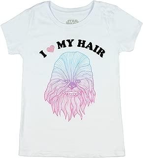 Big Girls' Chewbacca I Love My Hair T-Shirt - White