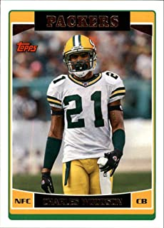 2006 Topps Football #152 Charles Woodson Green Bay Packers Official NFL Trading Card (Scan streaks are not on card, Stock Photos used, Card will be sharp)