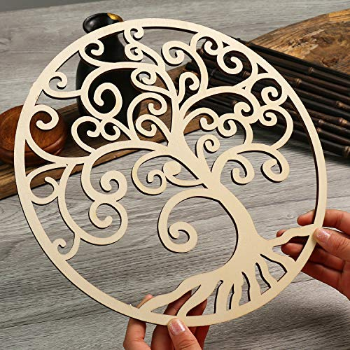 Simurg 11.5' Celtic Tree of Life Wall Decor Wooden Tree of Life Wall Art - Housewarming Gift Home Decoration Indoor and Outdoor Wall Hanging Sculpture