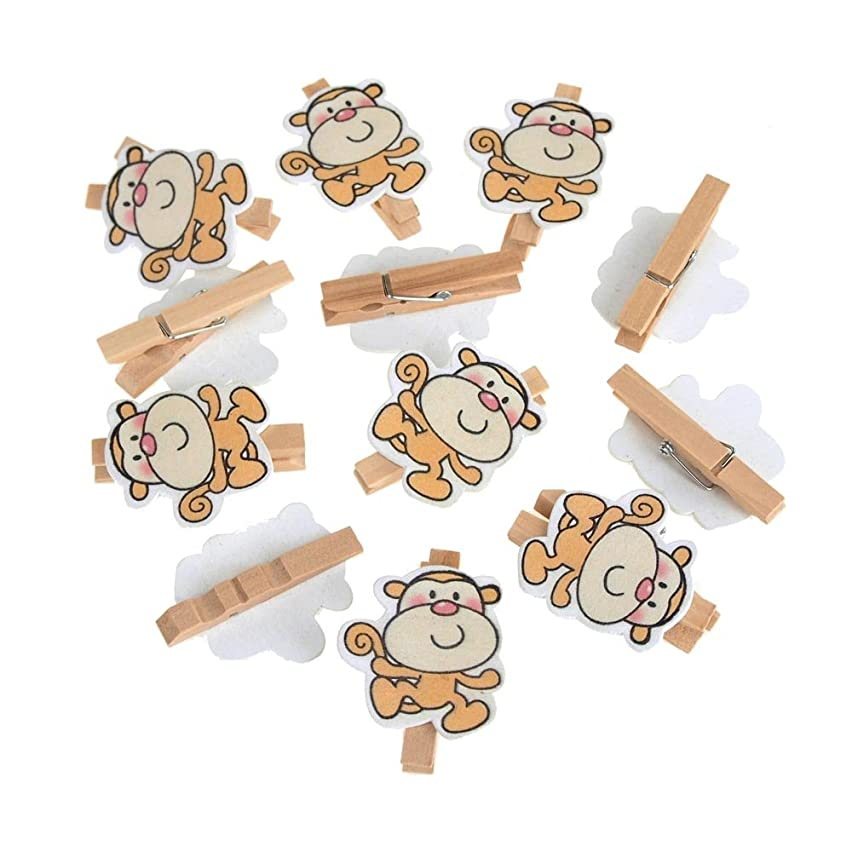 Homeford FCF000E12563AN5C Wooden Monkey Clothespins Baby Favors 2