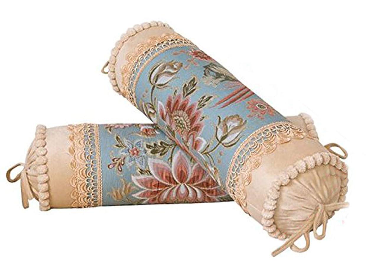肉の補体レディ薩牧徳欧米式おしゃれな抱き枕本体&カバー棒状枕首枕 (ベージュ)