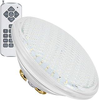 LEDKIA LIGHTING Bombilla LED RGB PAR56 Piscina Sumergible 12V IP68 35W RGB con mando