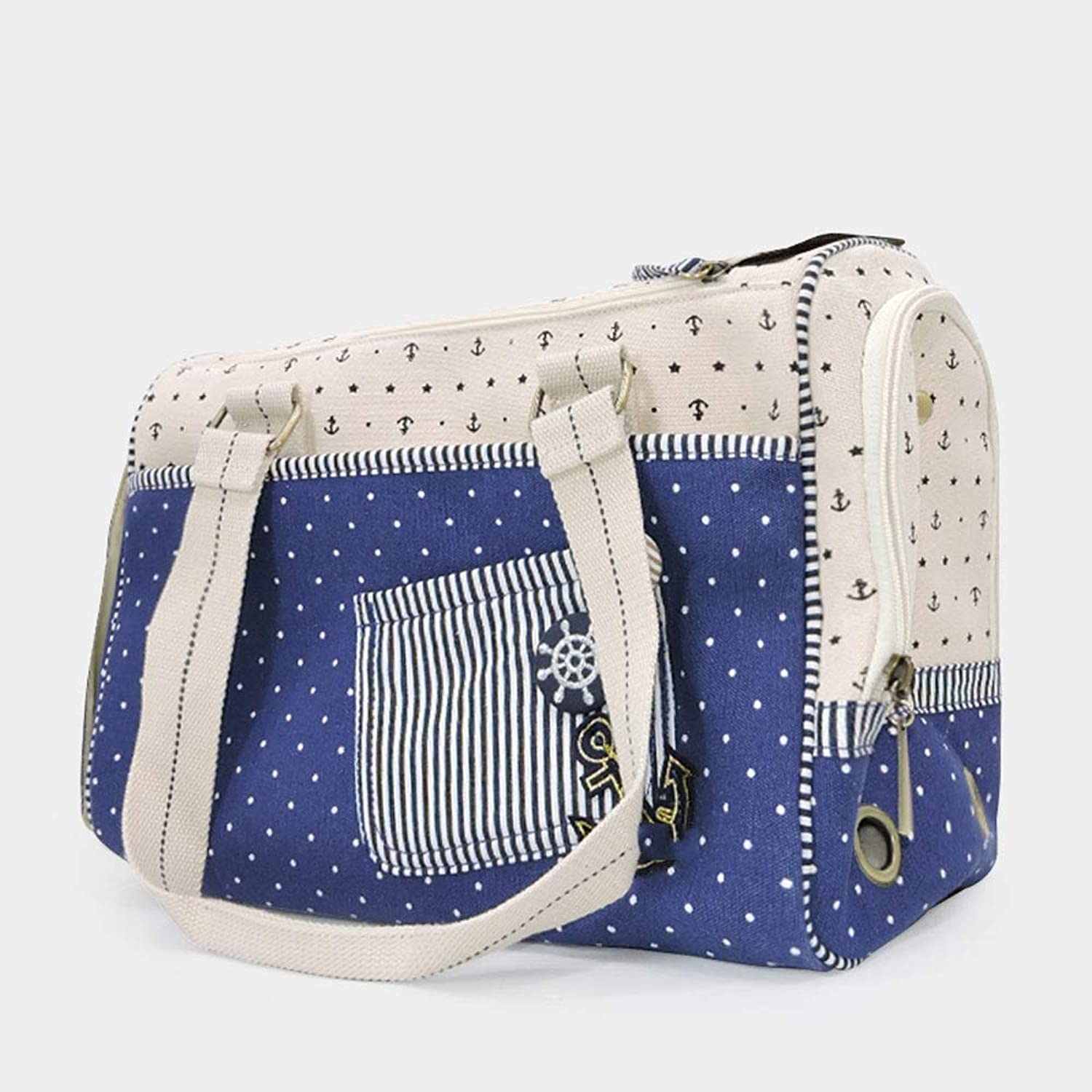 Obzk Closed Pet Bag Airline Approved For Travel Portable Cat Bag Suitable For Small Cats And Dogs,bluee,M