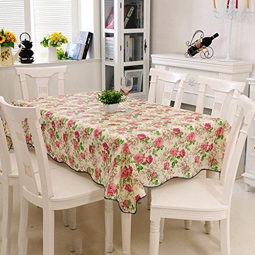 ZWL Nappe Tissu de table Tissu de table Tissu Rectangle PVC Imperméable à l'huile Plastique de qualité européenne , Ajoutez de la vitalité à la cuisine ( Couleur : B , taille : 152*152cm )