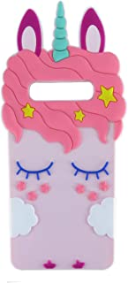 EMF Pink Horse Case for Samsung Galaxy S10e,3D Cartoon Animal Cute Silicone Protective Kawaii Funny Character Cover,Animated Fun Cool Skin Cases for Kids Teens Girls Guys Galaxy S10e / S10 Lite