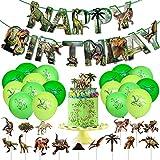 Yisscen Decoración CumpleañOs Dinosaurios,Fiestas Infantiles Globos Cumpleaños,Feliz Cumpleaños...