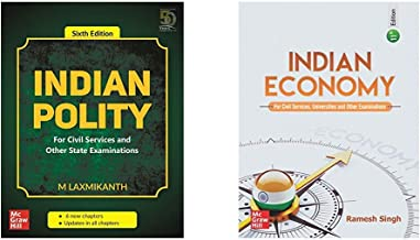 IAS Prep Combo - Indian Polity + Indian Economy (Set of 2 books)