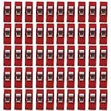 150pcs Clips Plástico Abrazaderas para Colcha Costura Claras Rojas