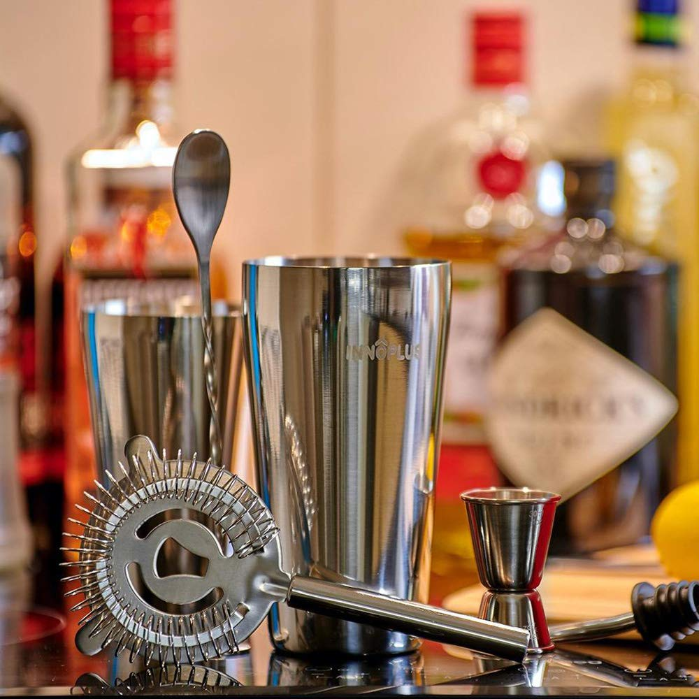 Compra Coctelera, Cocktail Kit, Coctelera Profesional de 6 Pezzi, Coctelera Para Cocteles de Acero Inoxidable, Gin Tonic Kit Cocteleria Set, Coctelera Boston Juego de Regalo Completo, Cocktail Shaker Set en Amazon.es