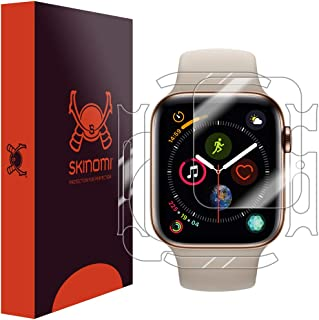 Skinomi Full Body Skin Protector Compatible with Apple Watch Series 4 (44mm)(3-Pack)(Screen Protector + Back Cover) TechSkin Full Coverage Clear HD Film