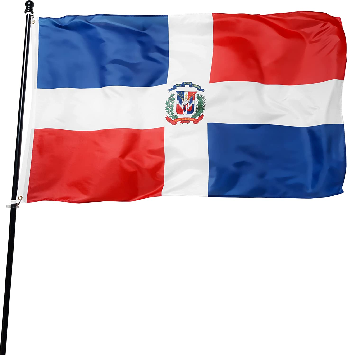 Complete Free Shipping DANF Dominican Flag 3x5 Foot Our shop most popular Republica Bandera Domi De Polyester