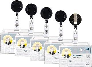 [Ensemble de 5 pièces] Clé Yo-Yo, carte d'identité Yo-Yo, porte-carte d'identité, utilisé pour porte-carte, badge d'identi...