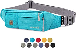 ZOMAKE Fanny Pack for Men and Women, Slim Belt Bag Water Resistant Waist Bag Pack for Running Cycling Carrying iPhone X Sa...