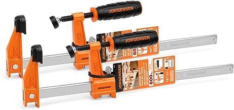 JORGENSEN 2-pack Steel Bar Clamps Set, 12-inch Medium Duty, 600 Lbs Load Limit …