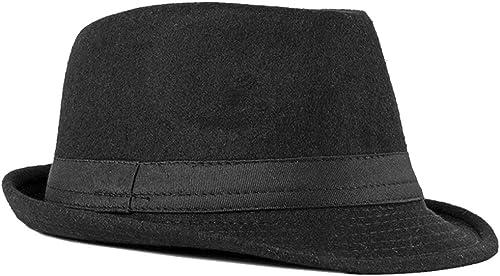 FBBULES Elegante Sombrero de Jazz Sombrero Fieltro Panamá ala Ancha Hat Fedora Sombreros de Sombrerera Sombreros de V...