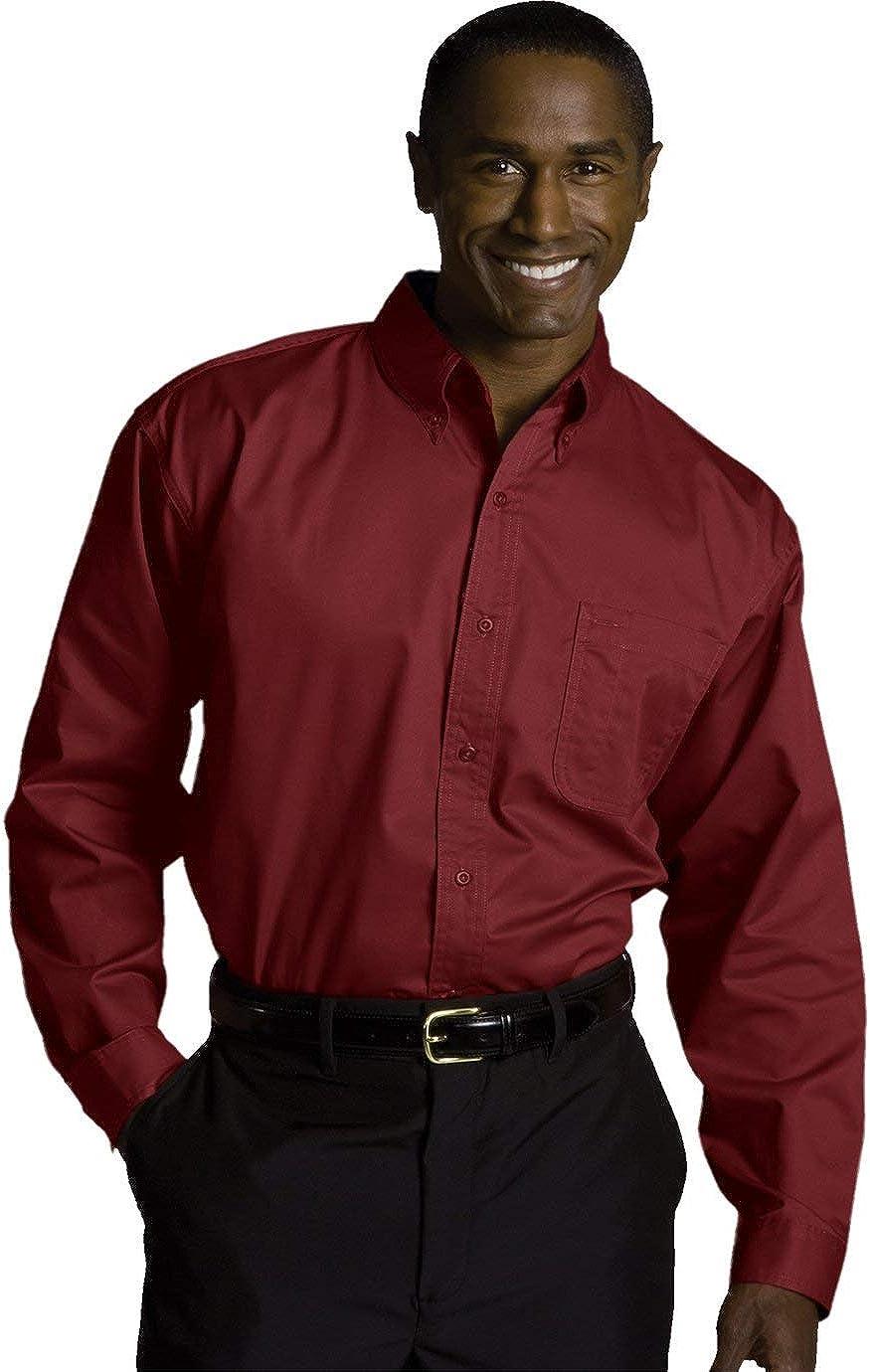 online shopping Ed Garments Men's Wrinkle Resistant cheap X-Lar BURGUNDY Shirt Twill
